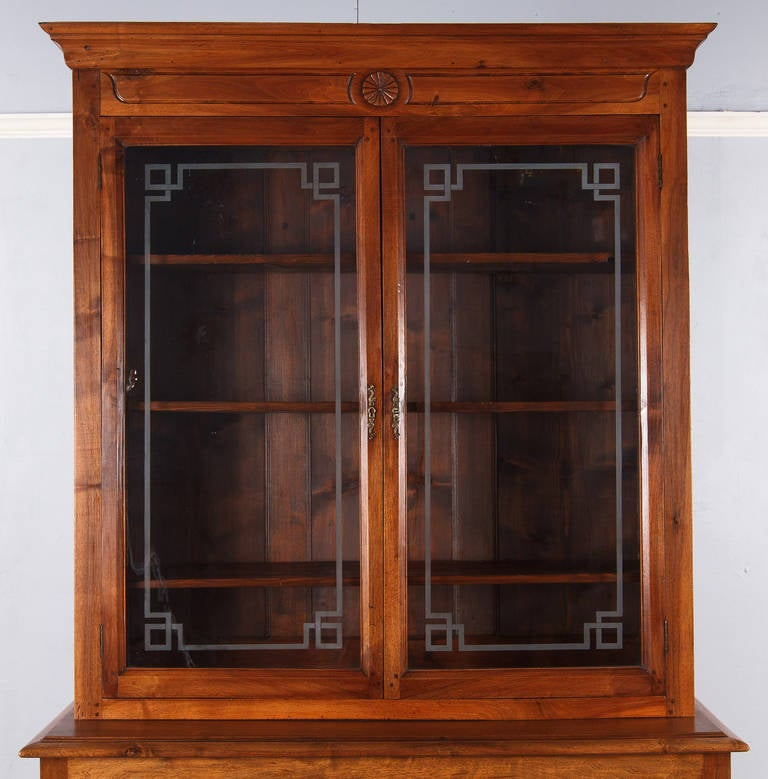 China Kitchen Austin Tx: French Napoleon III Walnut Cabinet Bookcase, Late 1800s