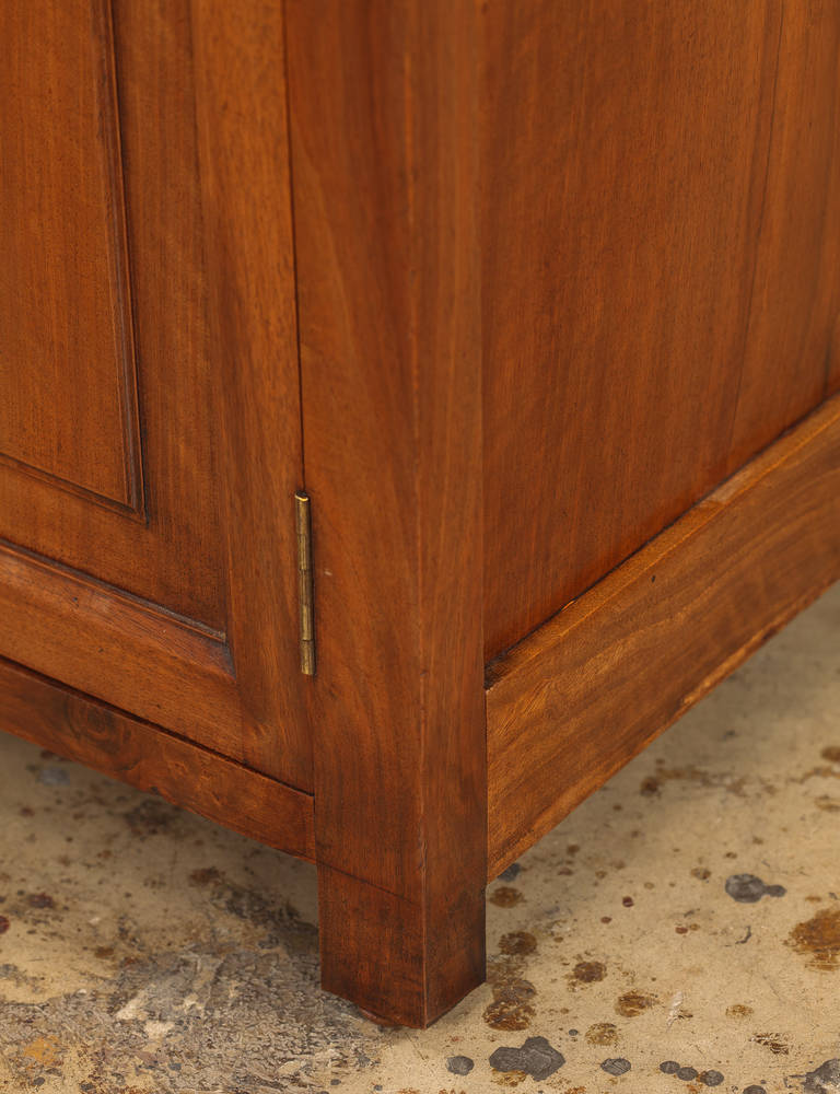 French Napoleon III Walnut Cabinet Bookcase, Late 1800s For Sale 2
