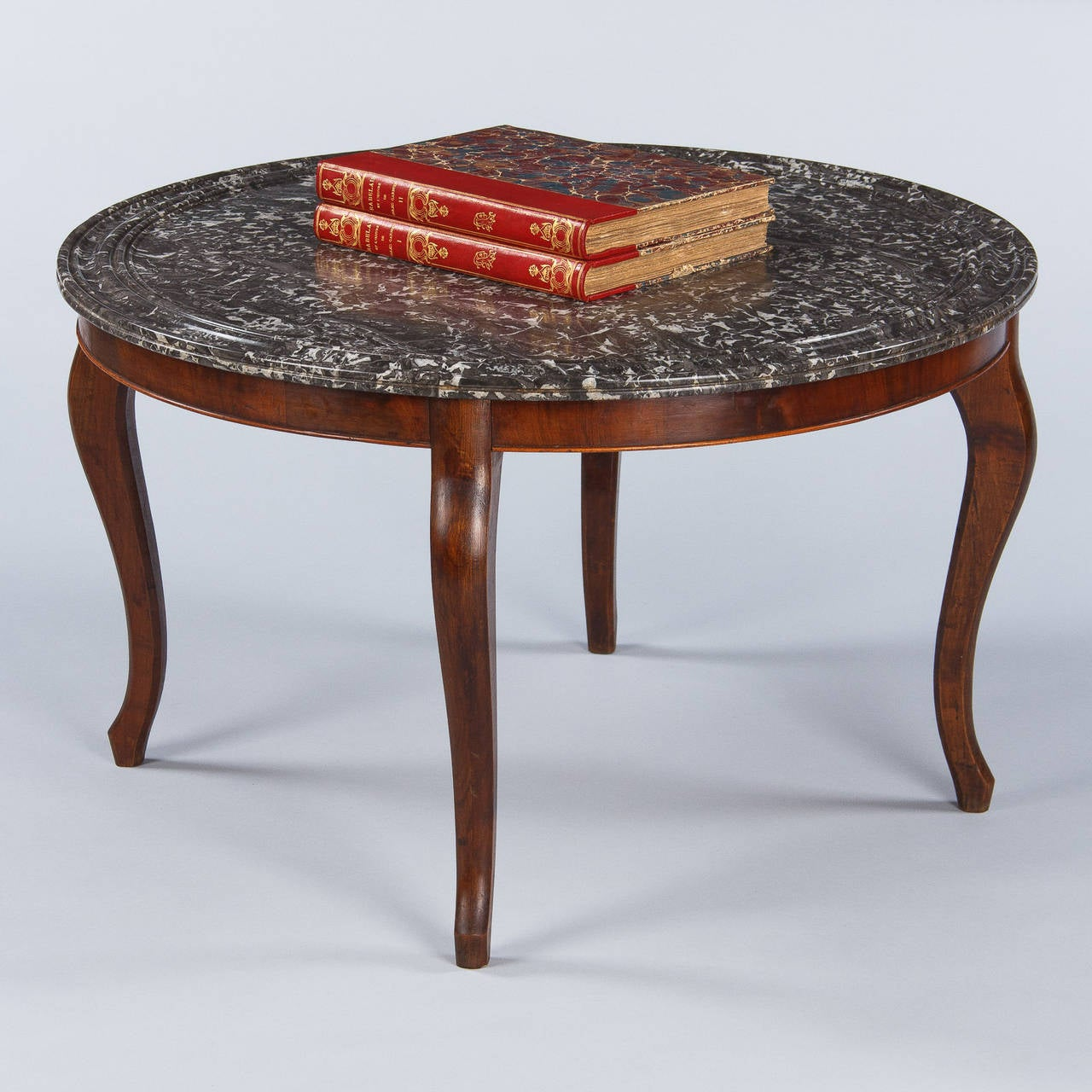 Louis Philippe Style Marble Top Coffee Table 1900s For