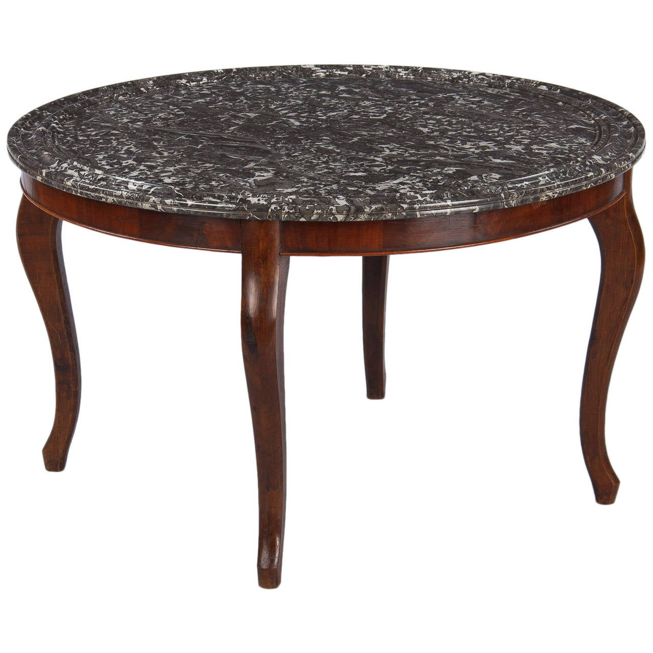Louis philippe style marble top coffee table 1900s for for Marble table tops for sale