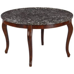 Louis Philippe Style Marble Top Coffee Table 1900s