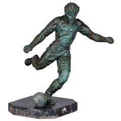 French Vintage Soccer Trophy
