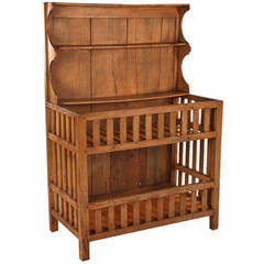 """Early 1900s French Country """"Egouttoir"""" Pine Cabinet"""