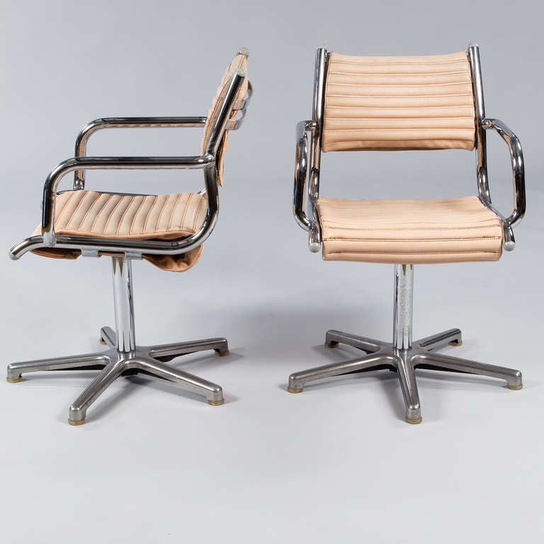 Modern Set of Six Vintage Chrome Armchairs by Olymp, Germany 1970s For Sale