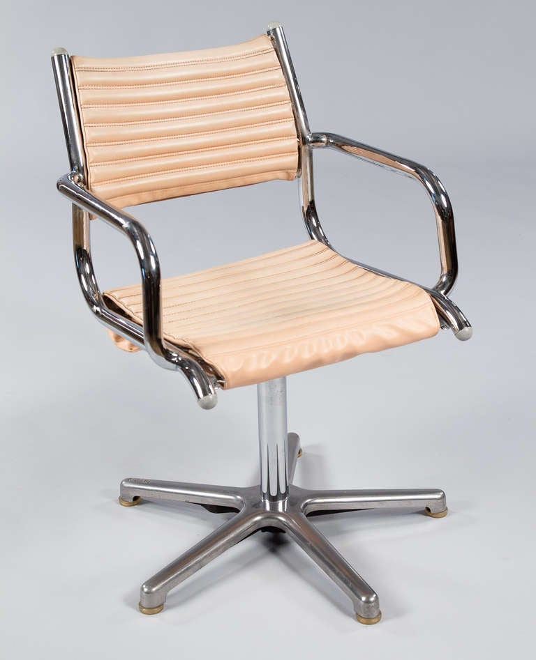 Set of Six Vintage Chrome Armchairs by Olymp, Germany 1970s For Sale 3