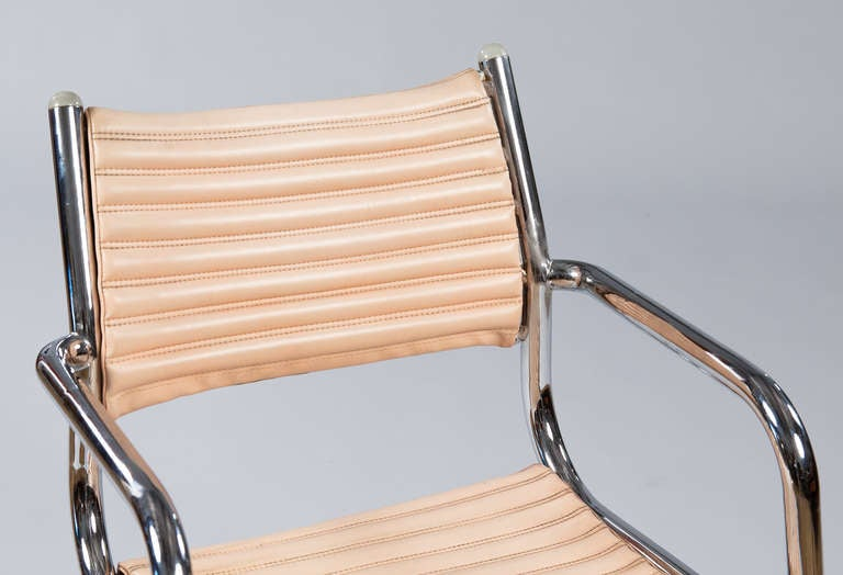 Late 20th Century Set of Six Vintage Chrome Armchairs by Olymp, Germany 1970s For Sale