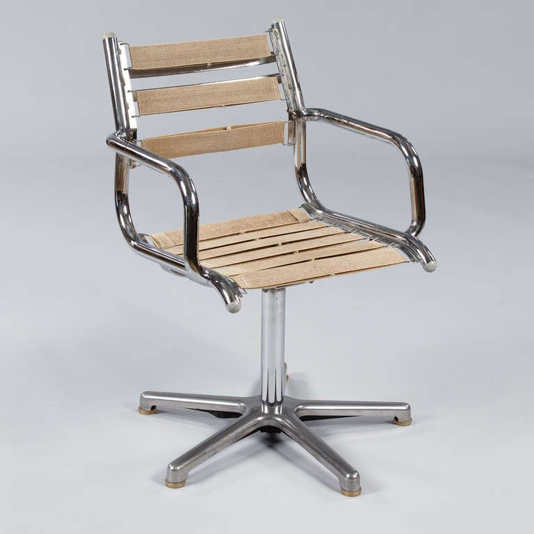 Set of Six Vintage Chrome Armchairs by Olymp, Germany 1970s For Sale 4