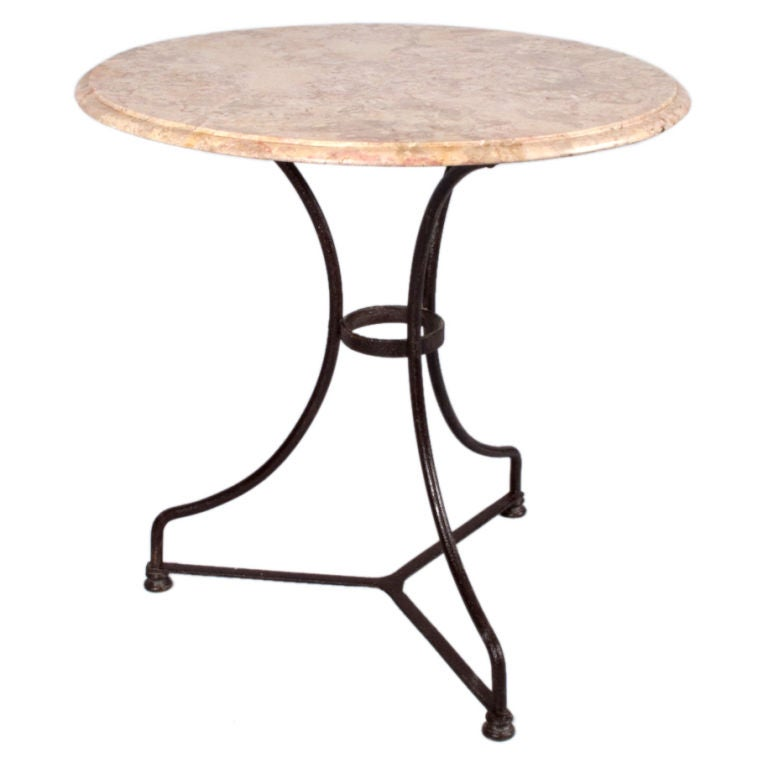 French Round Bistro Table At 1stdibs