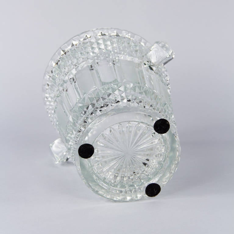 French Cut Crystal Champagne Bucket, 20th Century 10