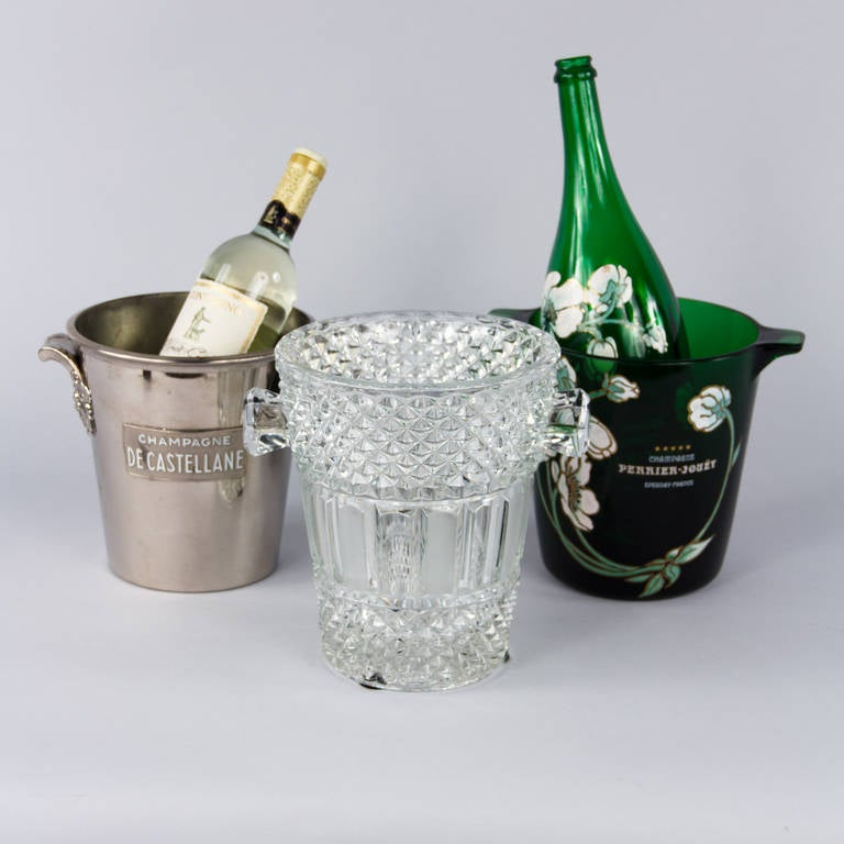 French Cut Crystal Champagne Bucket, 20th Century 2