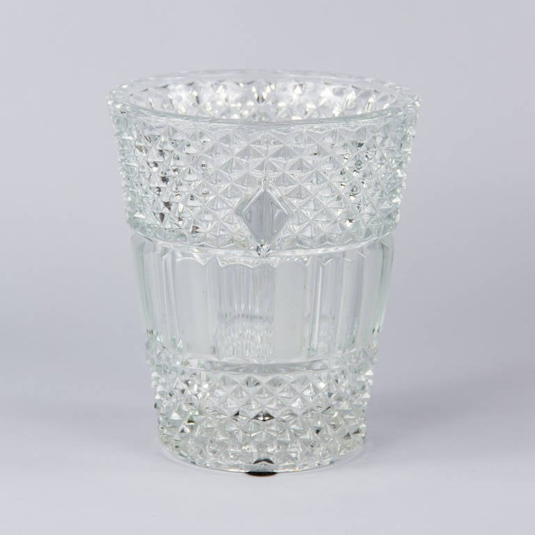 French Cut Crystal Champagne Bucket, 20th Century 3