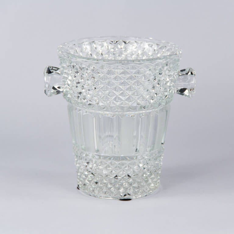 French Cut Crystal Champagne Bucket, 20th Century 4