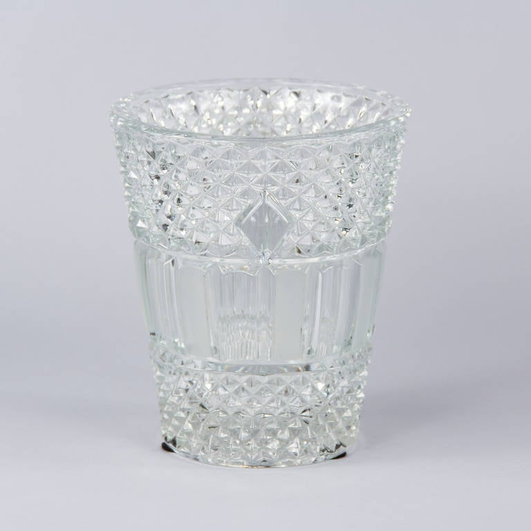 French Cut Crystal Champagne Bucket, 20th Century 5