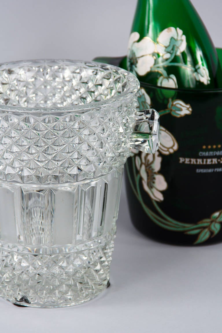 French Cut Crystal Champagne Bucket, 20th Century 6