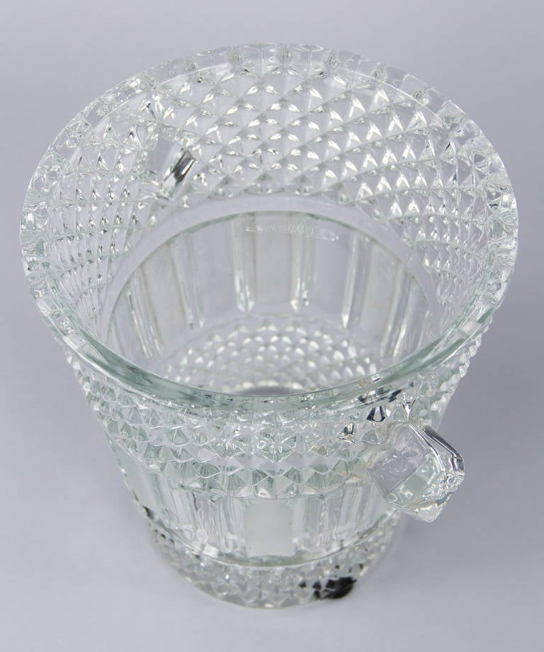 French Cut Crystal Champagne Bucket, 20th Century 7