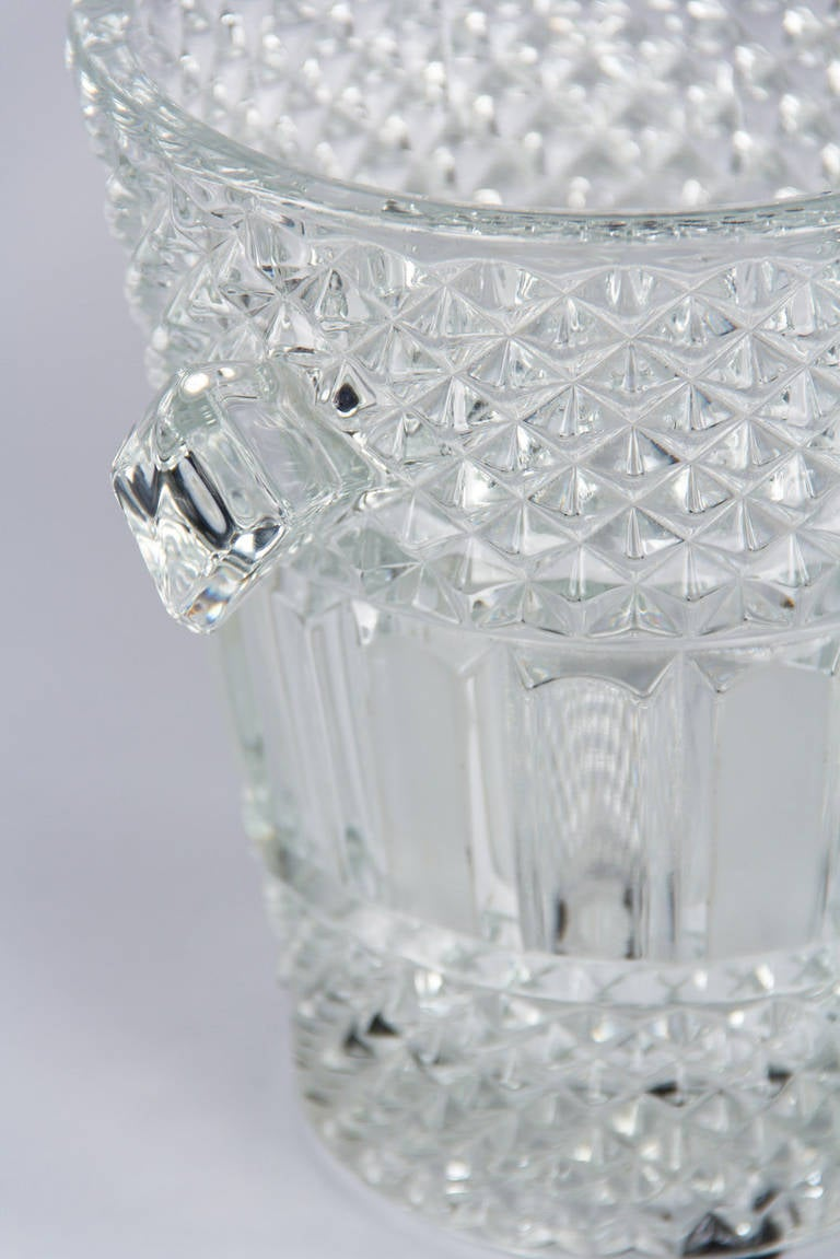 French Cut Crystal Champagne Bucket, 20th Century 8