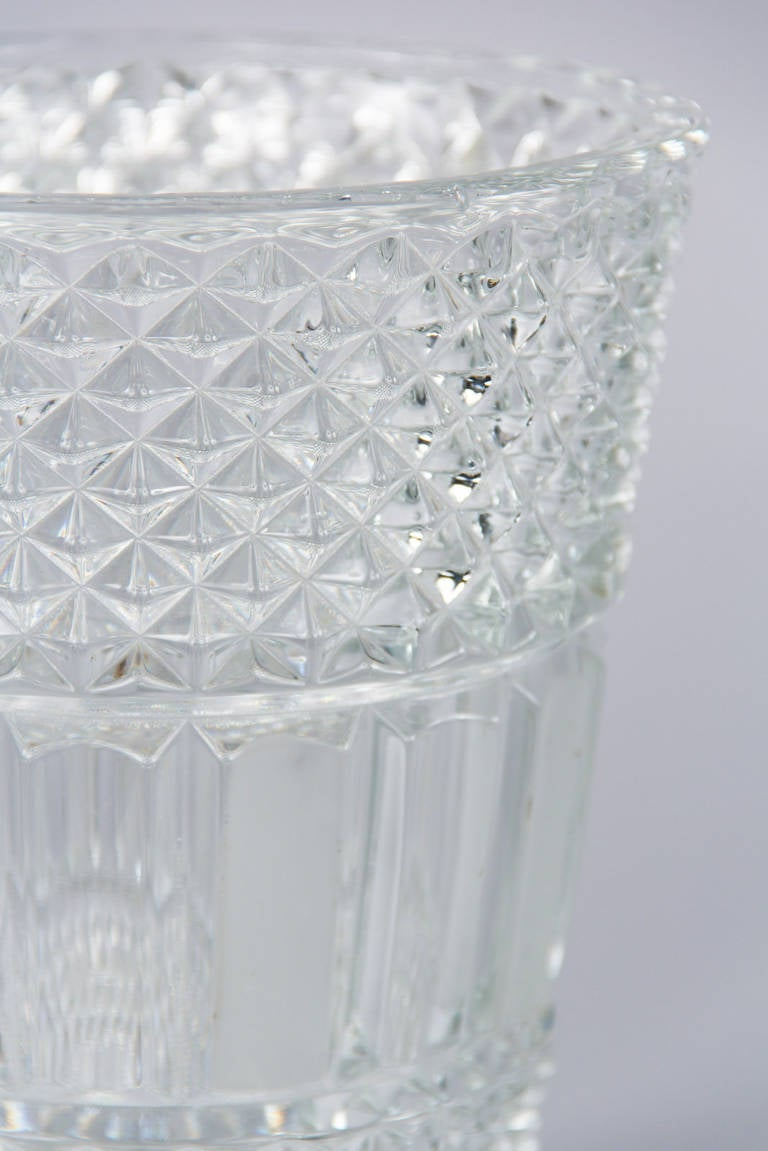 French Cut Crystal Champagne Bucket, 20th Century 9