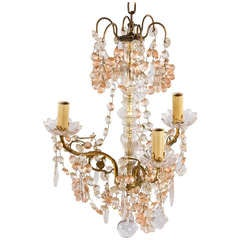 1930s French Crystal Chandelier with Glass Grapes