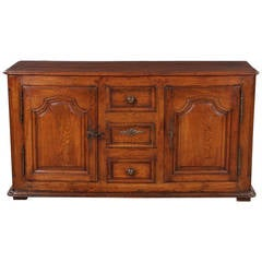 18th Century French Louis XIV Oak Buffet