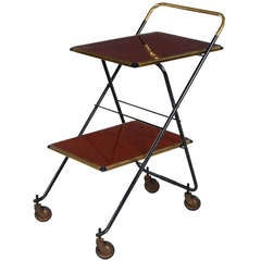 French 1950s Hotel Serving Cart