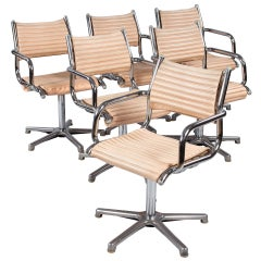 Set of Six Vintage Chrome Armchairs by Olymp, Germany 1970s