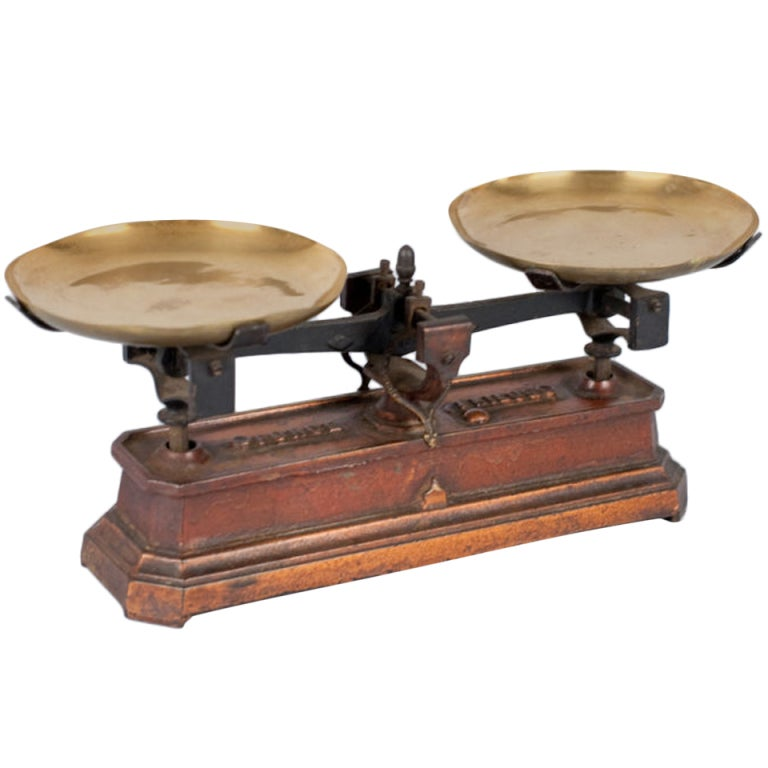 French Apothecary Metal Scale