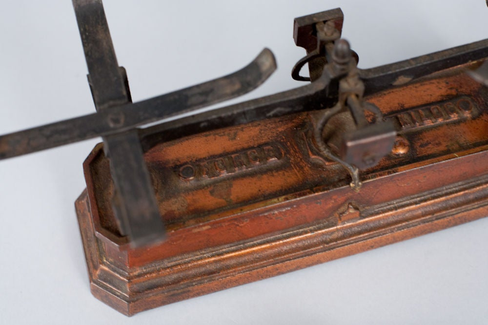 French Apothecary Metal Scale 2