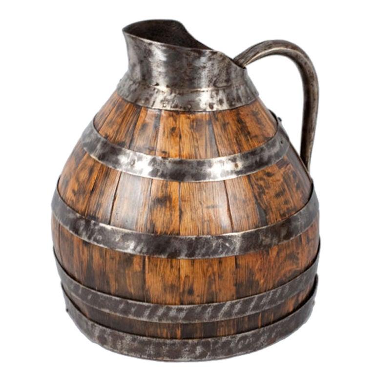 Barrel Shaped Wine Pitcher At 1stdibs