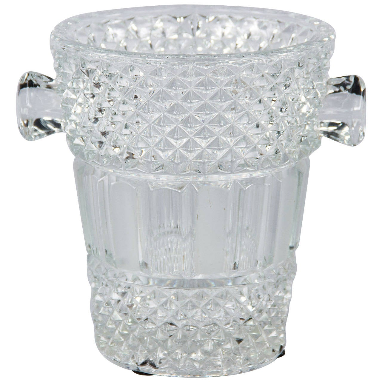 French Cut Crystal Champagne Bucket, 20th Century 1