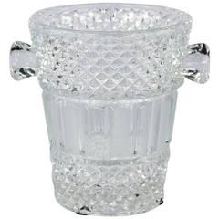 French Cut Crystal Champagne Bucket, 20th Century