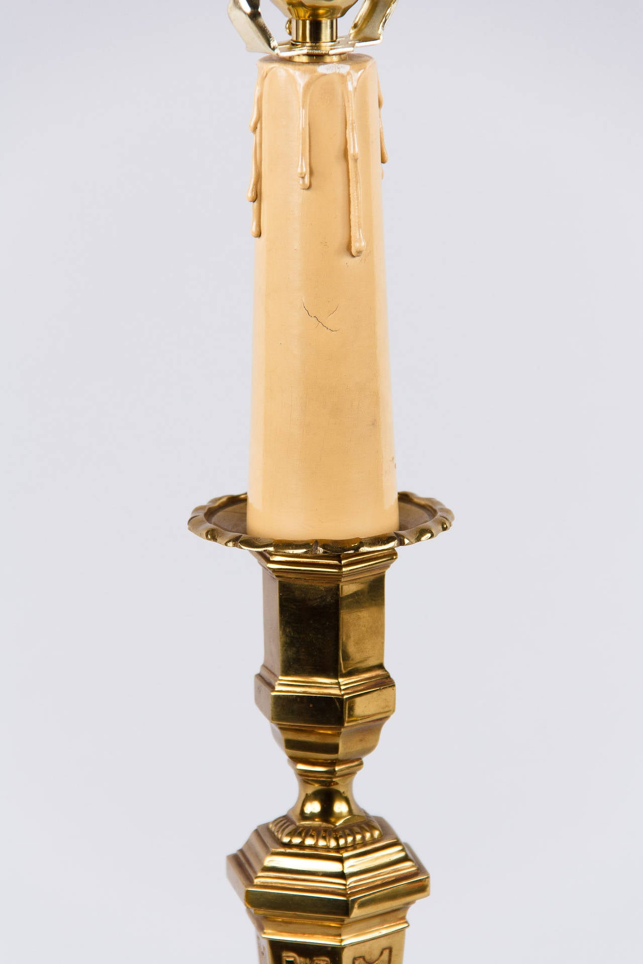 Early 1900s French Brass Table Lamp 3