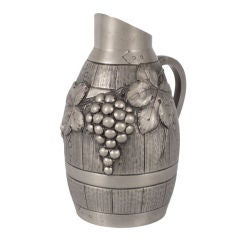 French Pewter Wine Pitcher