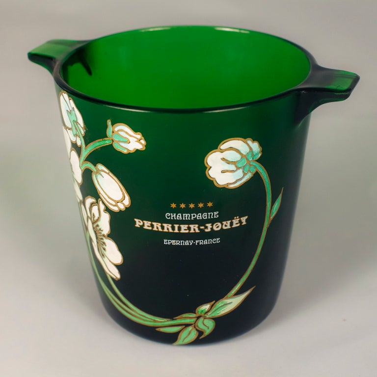 Vintage Perrier Jouet Champagne Bottle And Bucket For Sale