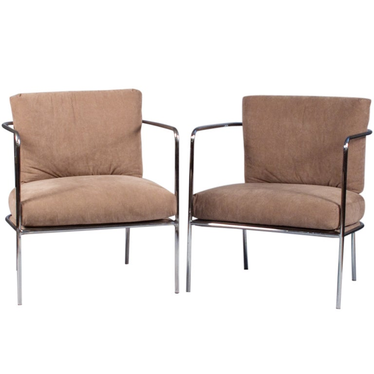 Pair of Italian Armchairs by Living Divani at 1stdibs