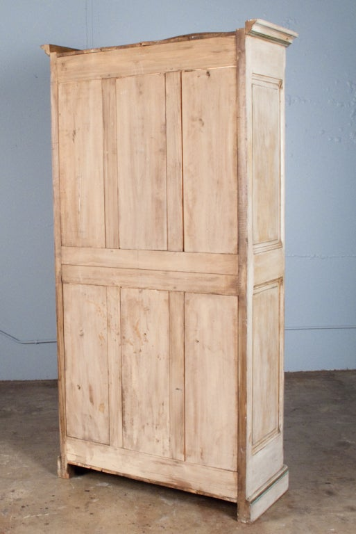 French restauration style painted armoire vitrine circa 1900s at 1stdibs - Restauration armoire ancienne ...