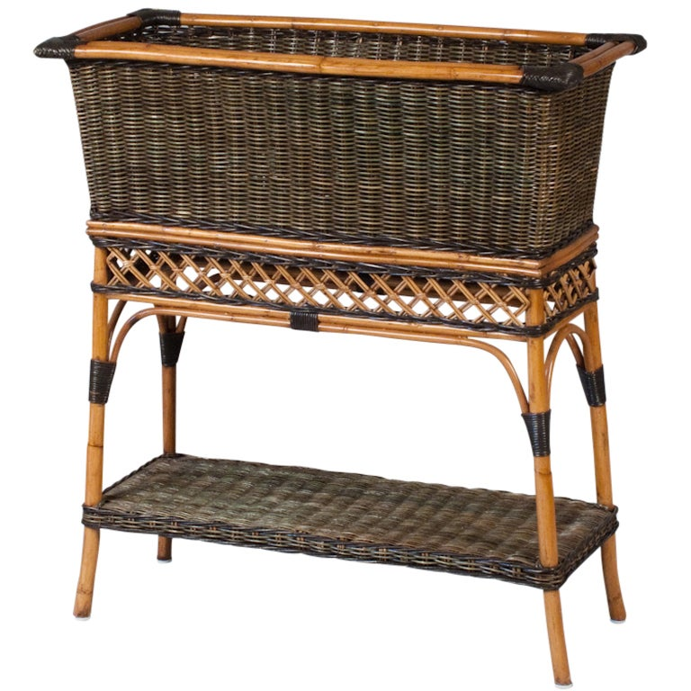 French Wicker Jardiniere by Grange at 1stdibs