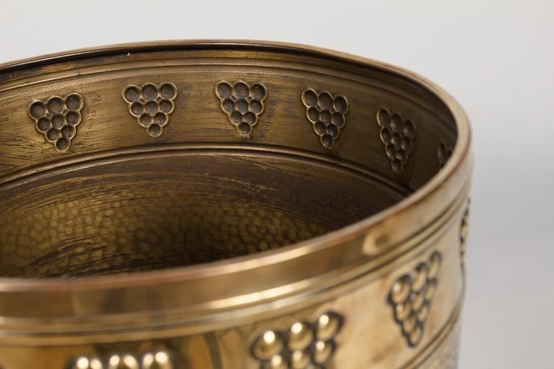 French Brass Cache Pot, 20th Century For Sale 2
