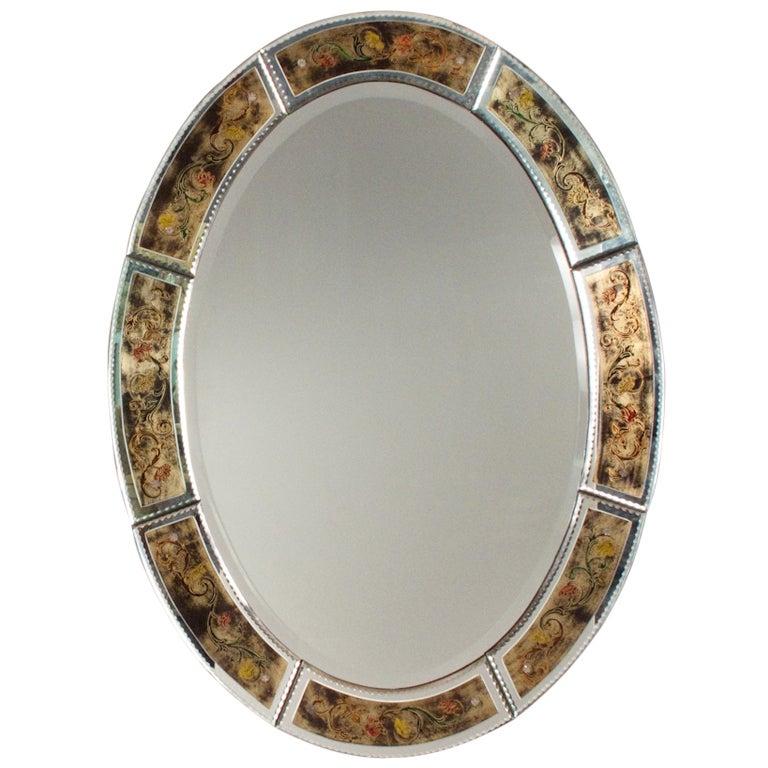 Vintage Hand Painted Venetian Mirror