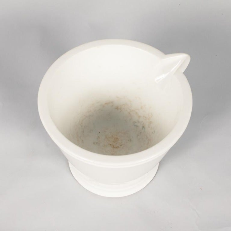 French Apothecary Ceramic Mortar with Pestle, Late 1800s 4
