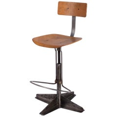 French Industrial Desk Chair