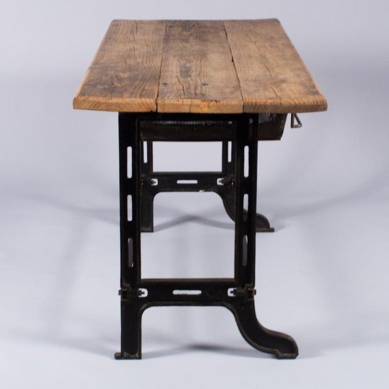 Midcentury French Industrial Table or Desk 3