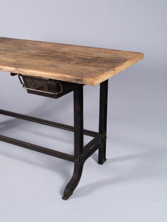 Midcentury French Industrial Table or Desk 6