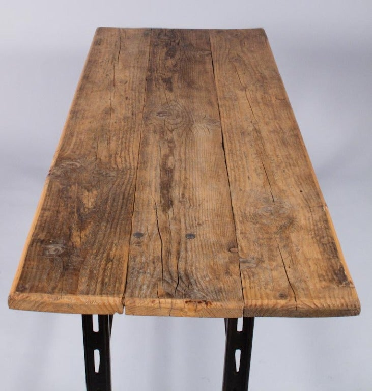 Midcentury French Industrial Table or Desk 7
