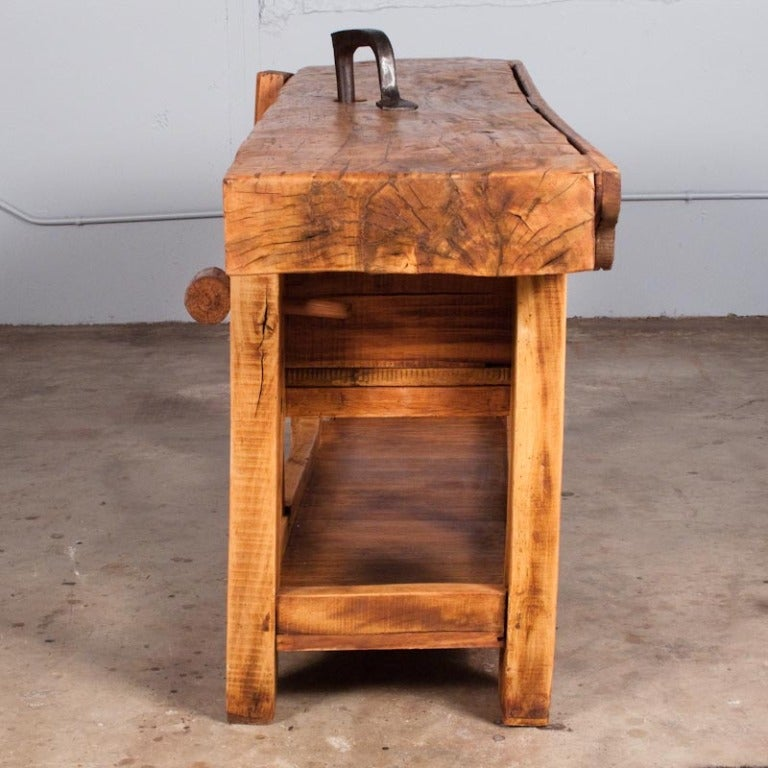 20th Century French Country Carpenter's Work Bench