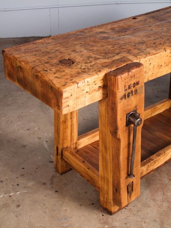 French Country Carpenter's Work Bench