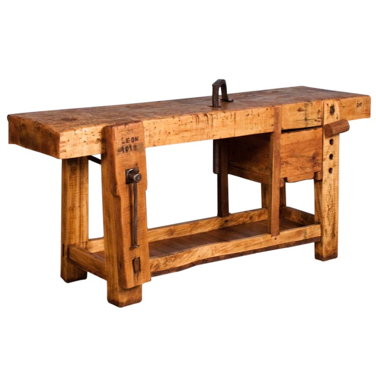 French Country Carpenter 39 S Work Bench Etabli At 1stdibs