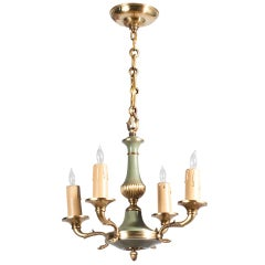 French Empire Style Tole Chandelier
