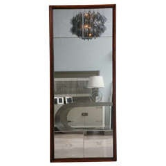 Italian Modern Mahogany Mirror in the Style of Gio Ponti