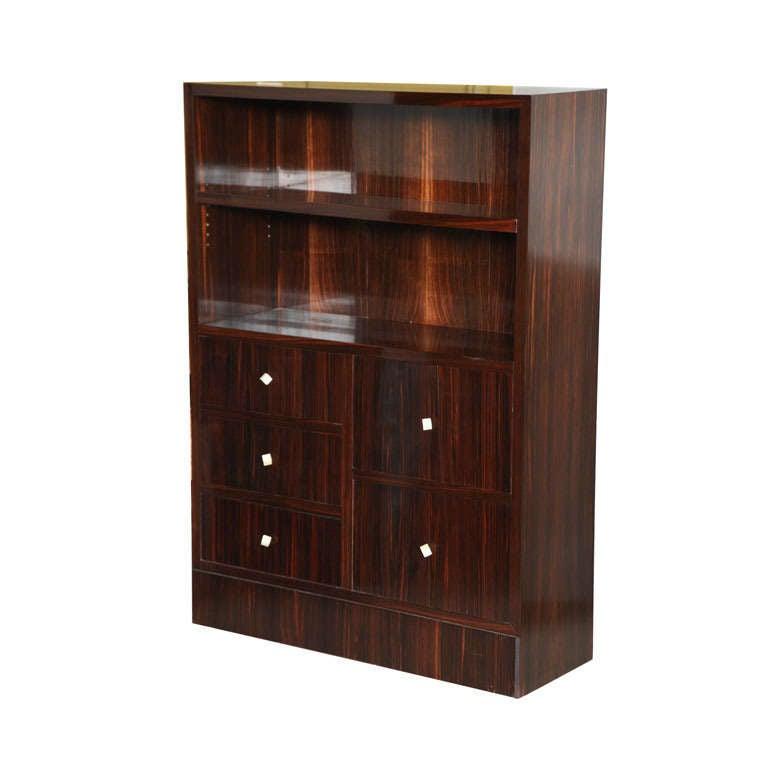 Dominique Ebony De Macassar Small Bookcase Or Cabinet For