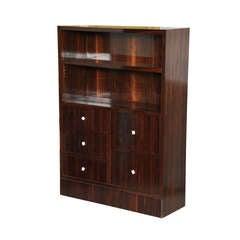 Dominique Ebony De Macassar Small Bookcase or Cabinet
